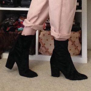 Forever 21 Shoes - Velvet booties